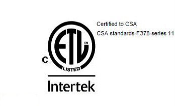 Certified to CSA Standard F378 series 11