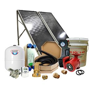 Solar Hot Water Retrofit Kit - 2 Flat Plate Collectors