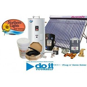 Residential solar hot water system - with solar storage tank