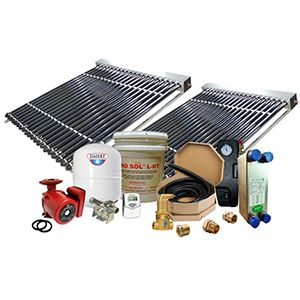 Solar Hot Water Retrofit Kit - 2 Collector