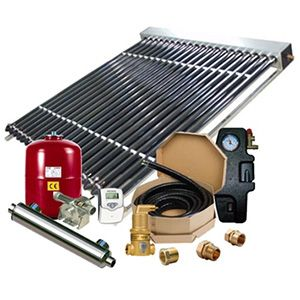 Residential solar hot water system - No Tank