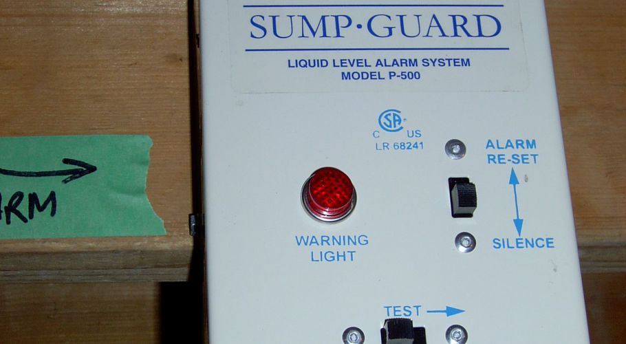 14- Water level alarm on storage tank with added float sensor so both lo or hi water level sets off the alarm