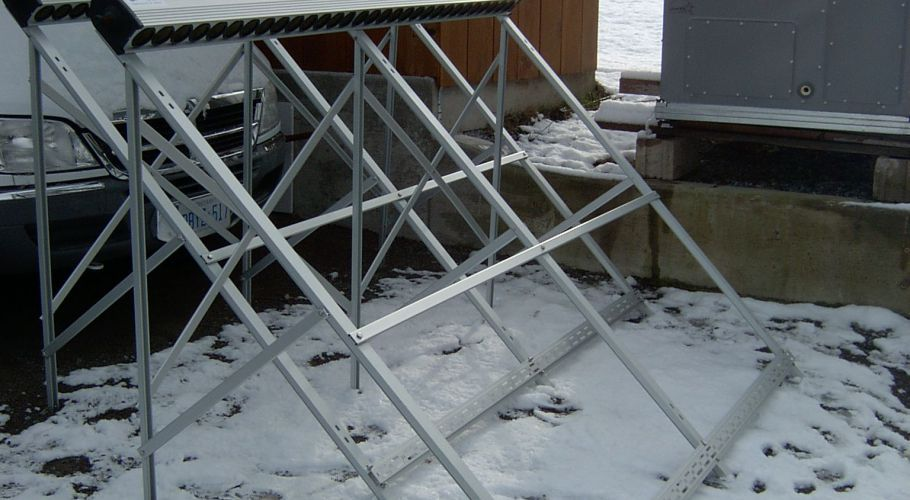 15- Solar collector frames preassembled on ground-2
